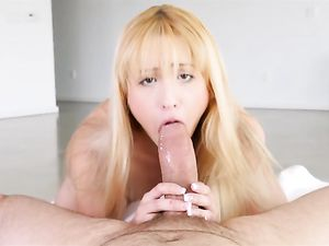 Skinny Blonde Teen Moans With Cock In Her Cunt