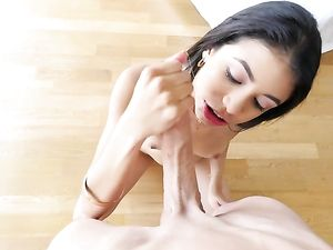 Massive Dick Sucked By A Teen Girl Fucks Her Hole
