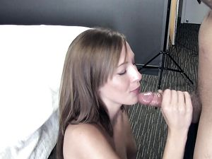 Young Cutie Oils Up To Arouse Him For POV Sex