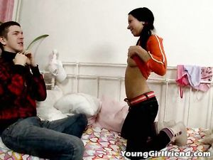 Flirty Teen Tease Anally Fingered By Her Boyfriend