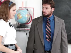 Cute Schoolgirl Blows And Fucks The Teacher