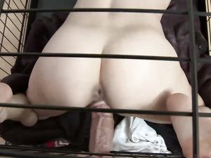 Teen Submissive In A Cage Fucked By Her Master