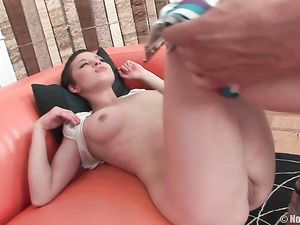 Sweet Girl With Short Hair Is His Hot Anal Slut