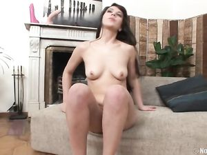 Cute Girl And Her Huge Toy Have Pussy Stretching Sex