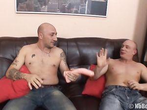 Big Dicks For This Threesome Slut To Enjoy