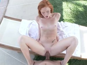 Shooting A Massive Facial On The Cute Redhead