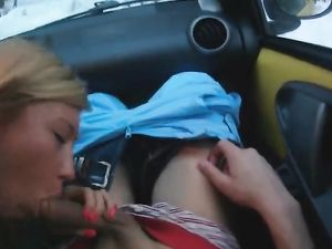 Ski Vacation Blowjob In The Car From A Cute Slut