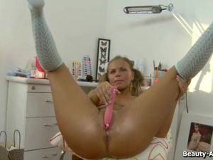 Big Titty Teen In Pigtails Toy Fucks Her Asshole