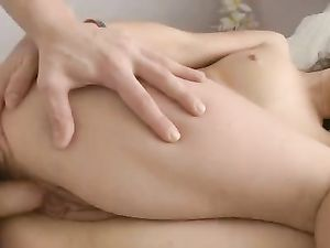 Wet Teen Pussy Fucked Slowly By His Big Dick