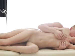 Cock Pleasing Massage Babe Rides Him Lustily