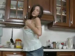 Anal Quickie Bent Over The Kitchen Table