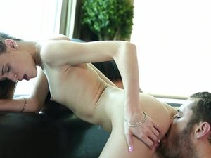 Skinny Stunners Fall To Their Knees And Suck Dick