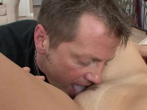 Milf Watches This Young Lady Suck And Ride Dick