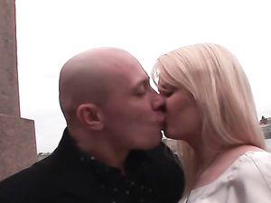 Elegant Satin Is Sexy On This Cute Blonde Fuck Slut