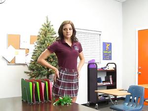 Hot Body Schoolgirl Fucked On His Desk