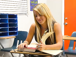 Hardcore Extra Credit With His Horny Blonde Student