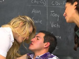 Schoolgirl With An Amazing Tramp Stamp Rides Cock