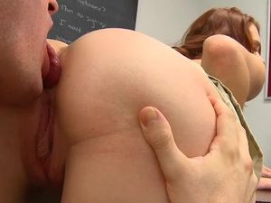 Sexy Redheaded Student Rides Teacher Cock To Satisfaction