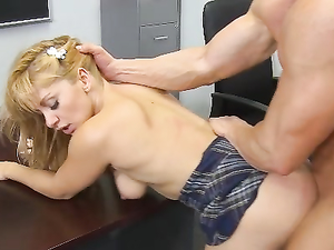 Student Doing Splits And Fucking Her Teacher