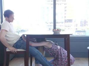 Blown Before Breakfast By His Flawless Girlfriend